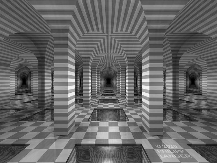 Kachel, Band, Pfeiler, Symmetrie, Spiegelung, Gebäude