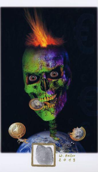Salzburg, Eu, Währungsexplosion, 2013, Digitale kunst,