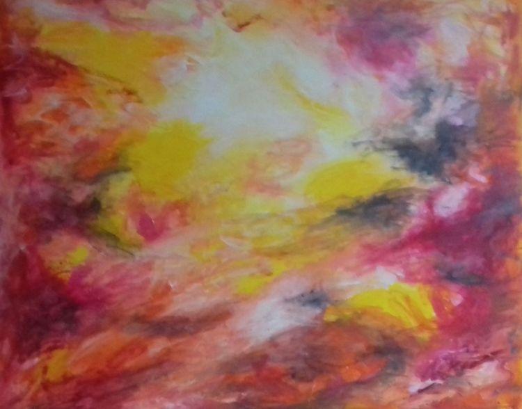 Hoffnung, Himmel, Weiß, Gelb, Malerei, Heilung