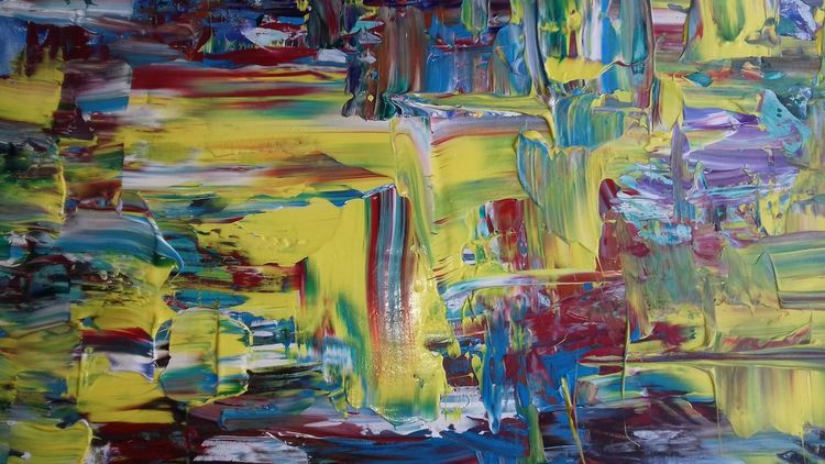 Gelb, Bunt, Abstrakt, Malerei, York
