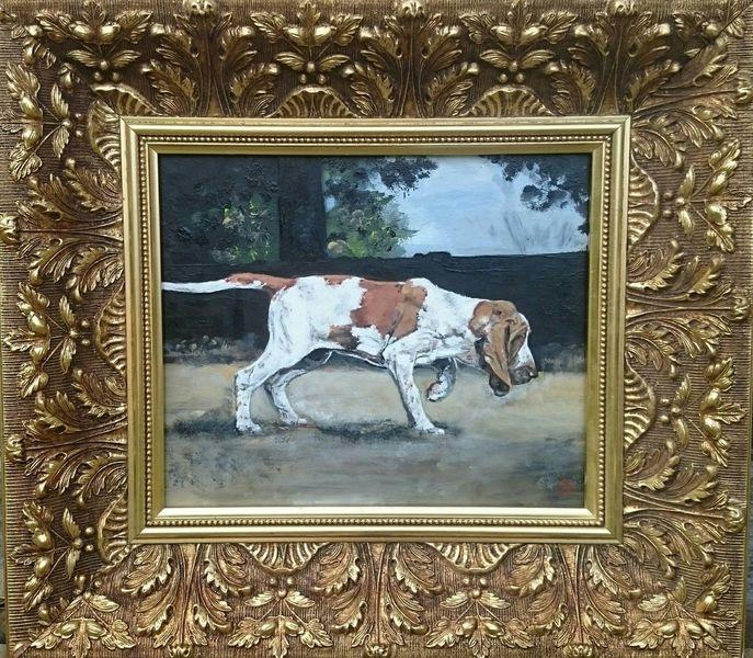 Hund, Jagdhund, Italienische bracke, Malerei
