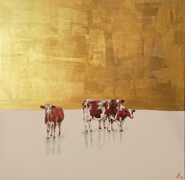 Kuh, Gold, Eis, Malerei