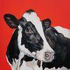 Kuh, Holsteiner, Rot, Malerei