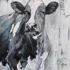 Weiß, Kuh, Schwarz, Malerei