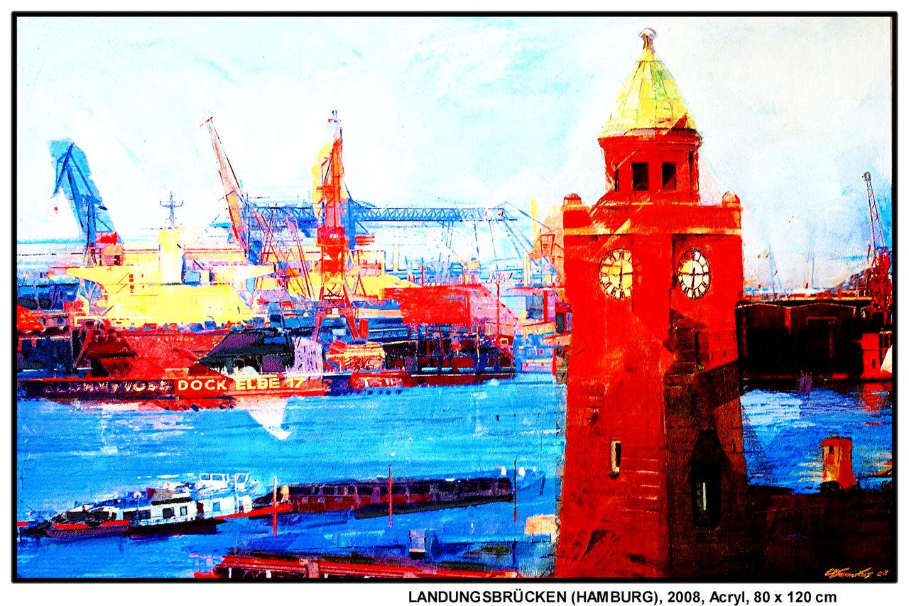 Acrylbilder Hamburg bild landungsbrücken hamburg anker arbeit christian damerius