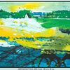 Acrylmalerei, Schatten, Grün, Landschaft