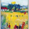 Weiß, Rapsfelder, Landschaft, Gelb