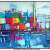 Elbe, Acrylmalerei, Reinbek, Dock