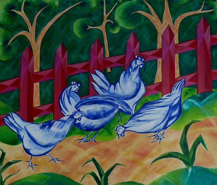 Gefühl, Schatten, Huhn, Dekoration, Romantik, Bauernhof