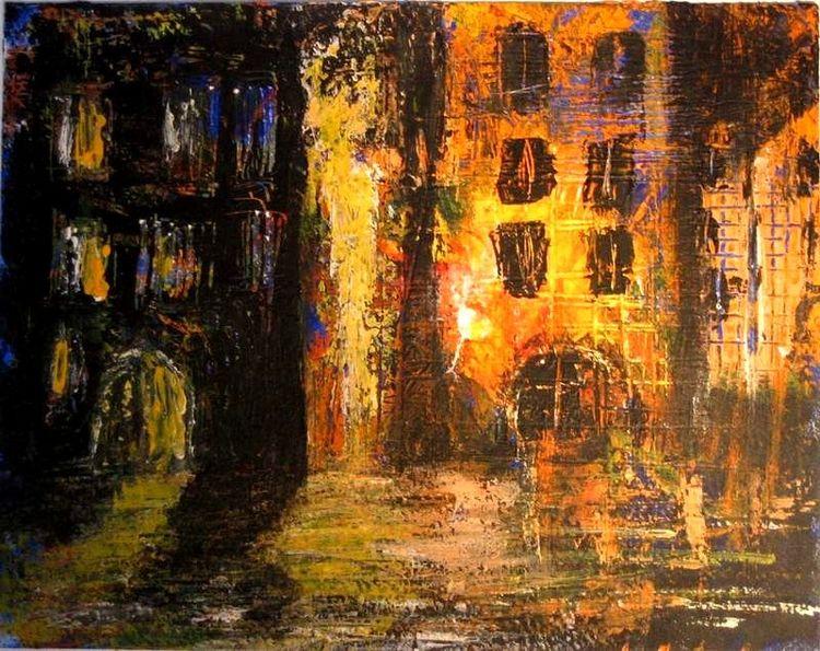 Stadt, Altstadt, Prag, Paris, Regen, Nacht