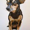 Pincher, Hund, Malerei, Tiere