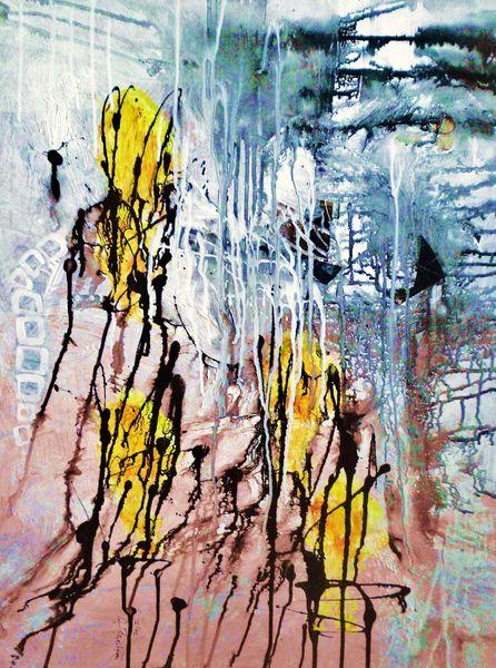 Lasurtechnik, Struktur, Acrylmalerei, Modern, Farben, Dekoration