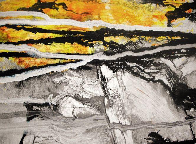 Struktur, Beige, Abstrakt, Gelb, Modern, Schwarz weiß
