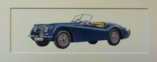 Realismus, Jaguar, Ölmalerei, Auto, Malerei