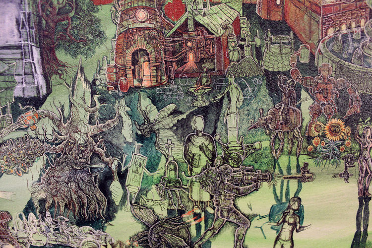 Baumwesen, Märchenwelt, Mittelalter, Fantasie, Surreal, Malerei