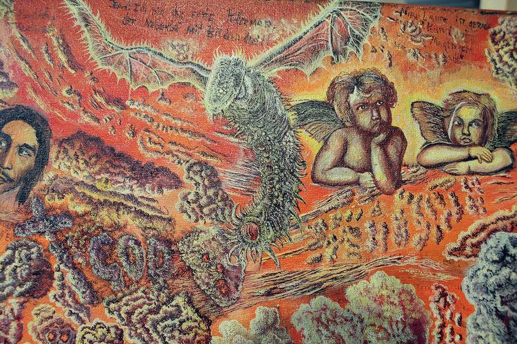 Bob marley, Engel, Raphael, Alien, Wolken, Malerei