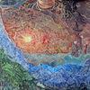 Gebirgskette, Sonnenuntergang, Fantastische malerei, Alpen