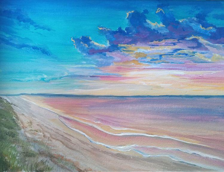 Wasser, Sonne, Meer, Malerei