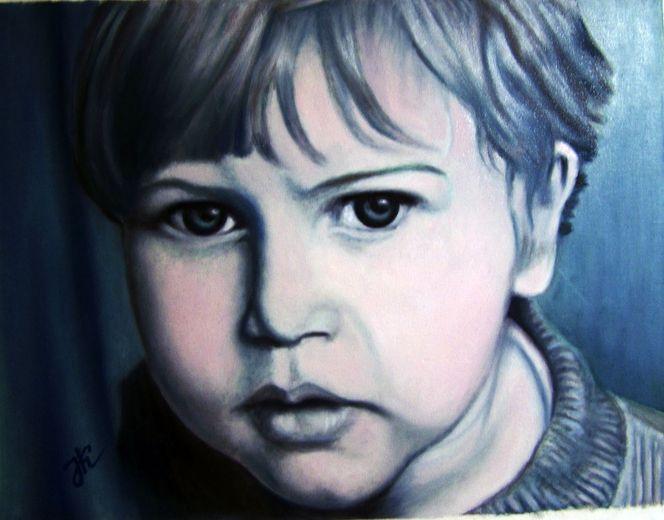 Kind, Portrait, Mann, Menschen, Malerei, Kinderportrait