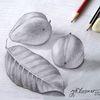Baum, Landschaft, Früchte, Zeichnungen