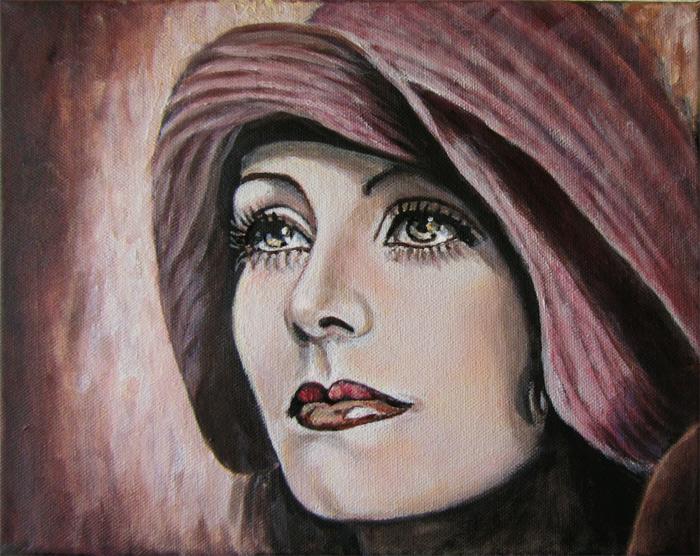 Frau, Figurativ, Ölmalerei, Portrait, Malerei, Diva