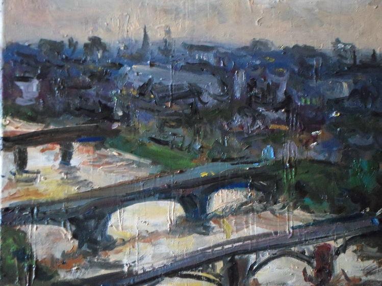 Schottland, Fluss, Brücke, Stadt, Glasgow, Abend