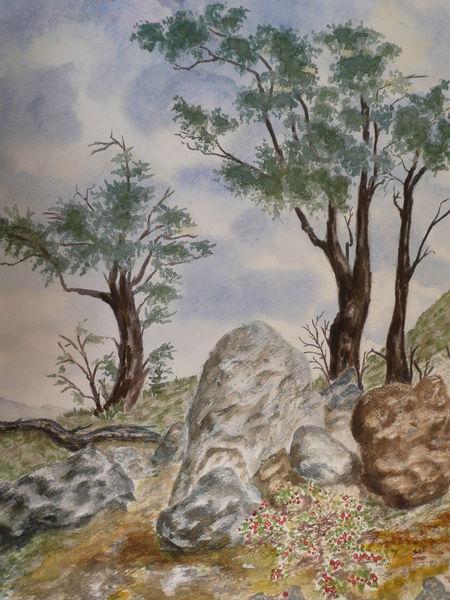 Aquarellmalerei, Aquarell, Natur, Stille