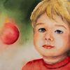 Stimmung, Weihnachten, Malerei, Kind