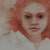 Mädchen, Malerei, Scheu, Menschen