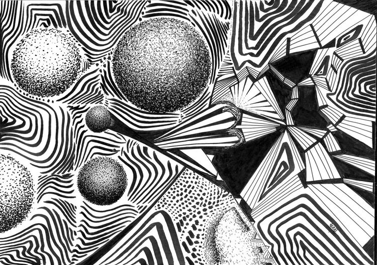 Sch, Abstrakt, Schwarz weiß, Zeichnungen