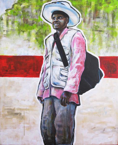 Person, Acrylmalerei, Strandverkäufer, Mann, Strand, Sommer