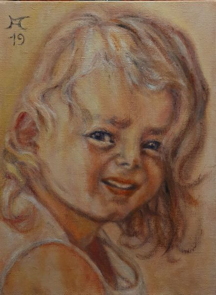 Kinderkopf, Orange, Kind, Sonne, Haare, Malerei