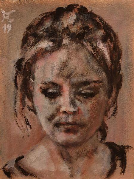 Rosa, Siena, Blick, Malerei