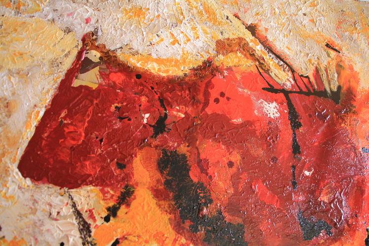 Profil, Stier, Zufall, Detailwiedergabe, Acrylmalerei, Ähnlichkeit