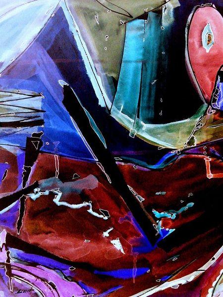 Strich, Blau, Abstrakt, Rot schwarz, Bruchstück, Mosaik