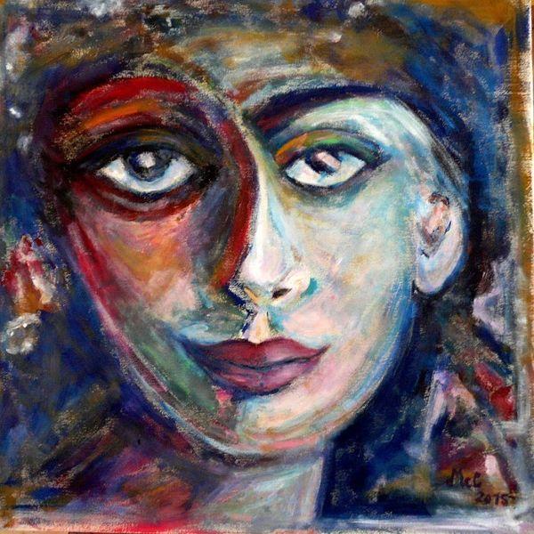 Expressionismus, Frau, Farben, Malerei