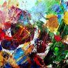 Farben, Struktur, Zwischenraum, Bunt
