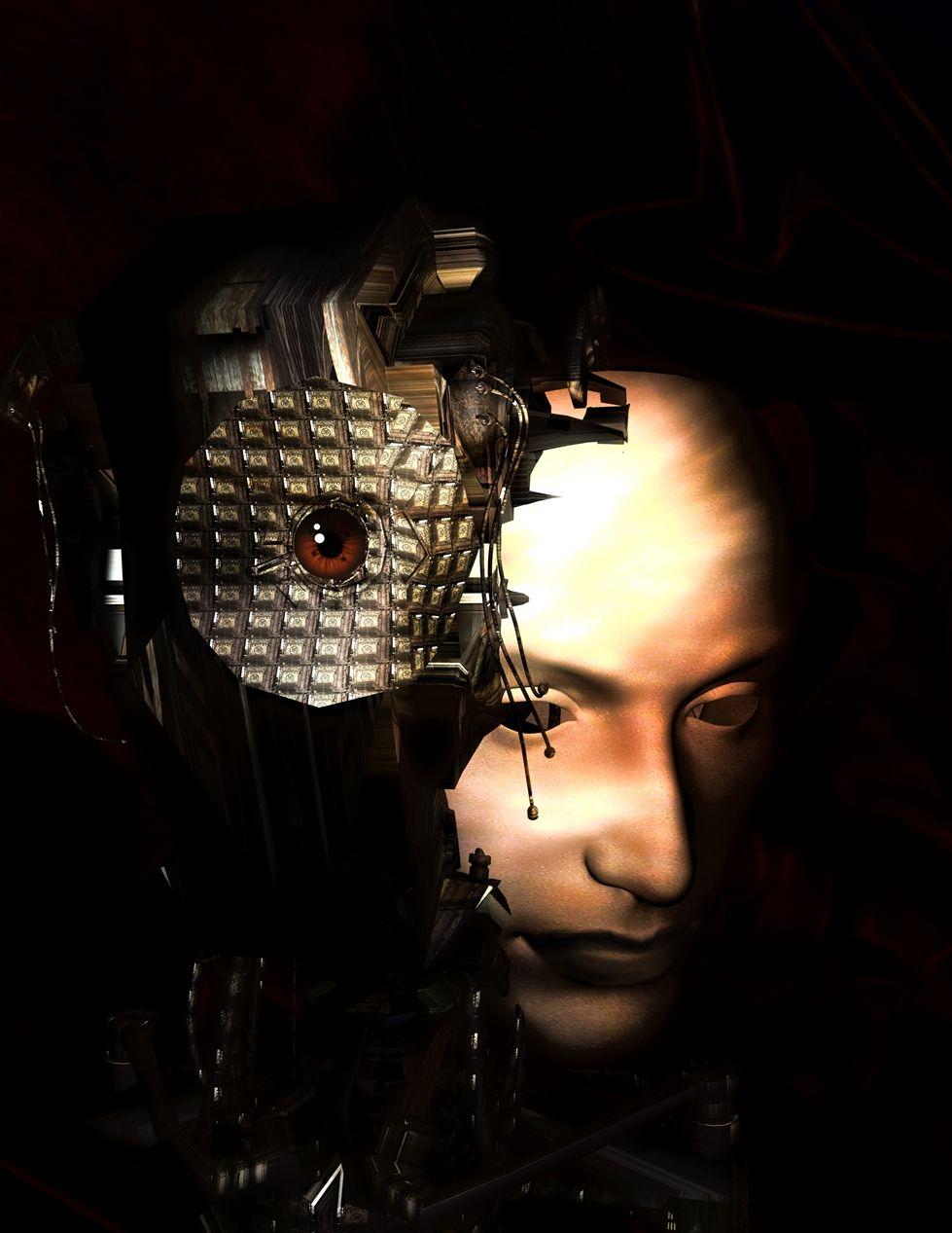 Kunstnet werke digitale kunst surreal human machine