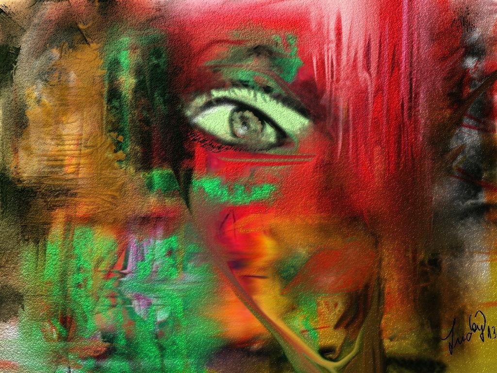 Bild Blinde Wut Abstrakt Malerei Von Lucky Sb Bei Kunstnet