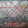 Hingabe, Abstrakt, Dämmerung, Ölmalerei