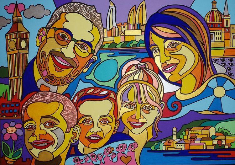 Portrait, Malta, London, Familie, Malerei,