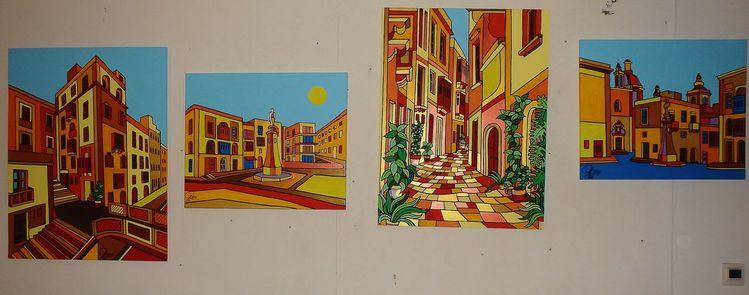 Birgu, Malta, Valletta, Malerei