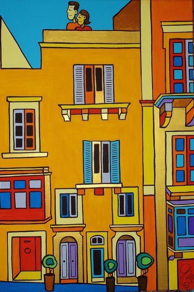 Valletta, Hotel, Malta, Malerei