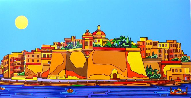 Befestigung, Senglea, Vittoriosa, Malta, Valletta, Hafen
