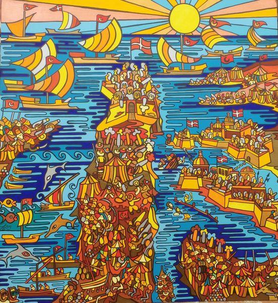 Valletta, Malta, Türkei, Osmanisch, Malerei,