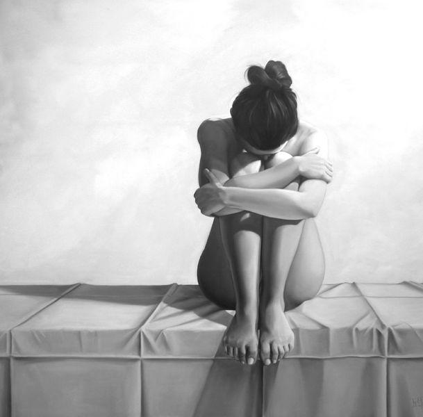 Weiß, Ölmalerei, Akt, Malerei