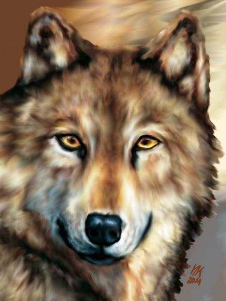 Digital, Wolf, Digitale kunst