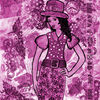 Mischtechnik, Mixed, Collage, Pink