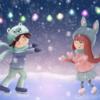 Eis, Schnee, Partylichter, Schlittschuh
