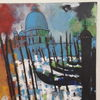 Acrylmalerei, Venedig, Landschaft, Malerei